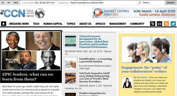 CCN Digital; online magazine dedicated to the contact center industry & BPO