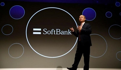 SoftBank Group Corp Chairman and CEO Son attends a news conference in Tokyo